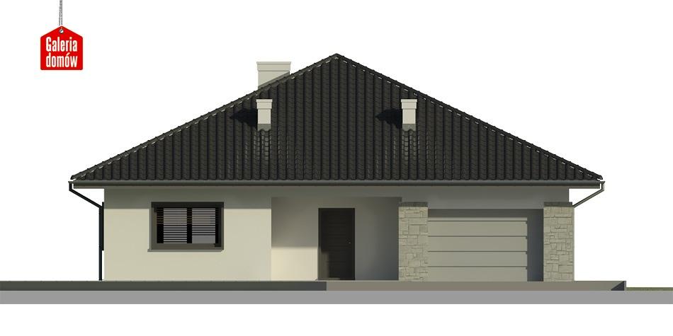 Dom przy Rubinowej 3 bis - elewacja frontowa
