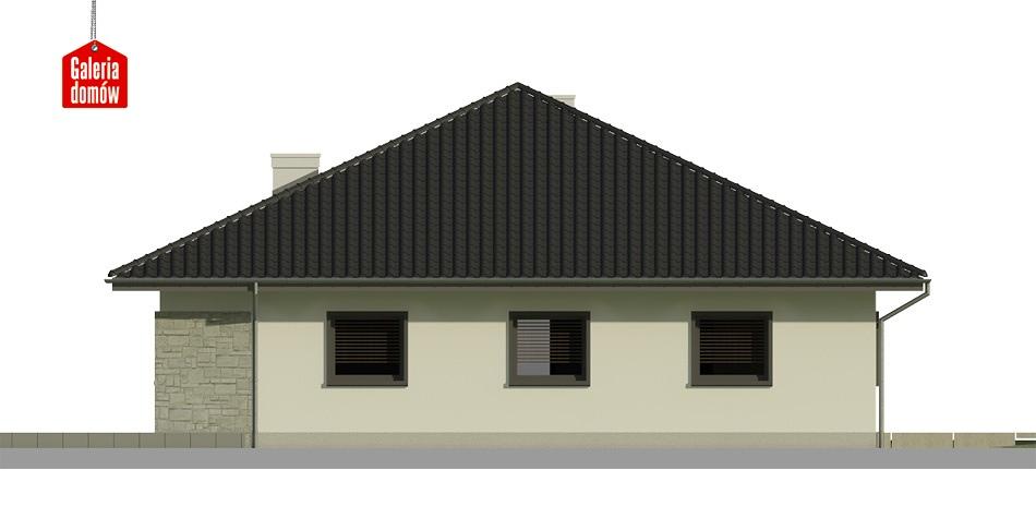 Dom przy Rubinowej 3 bis - elewacja prawa