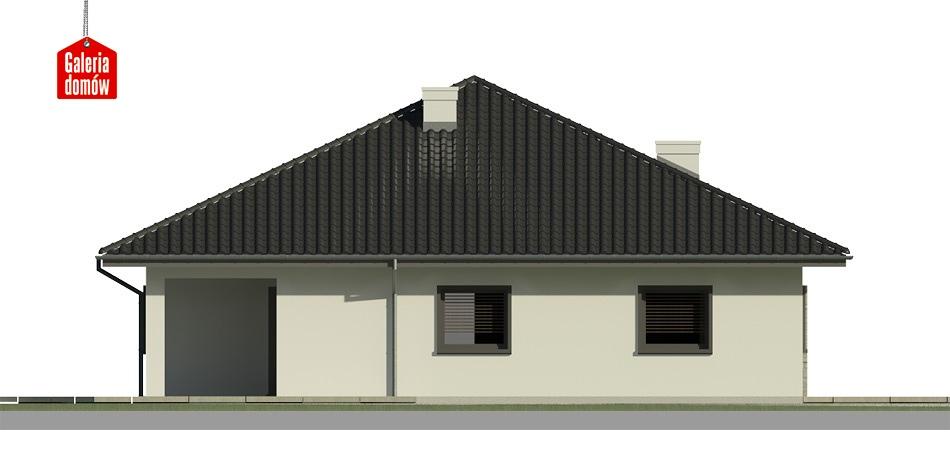 Dom przy Rubinowej 3 bis - elewacja lewa