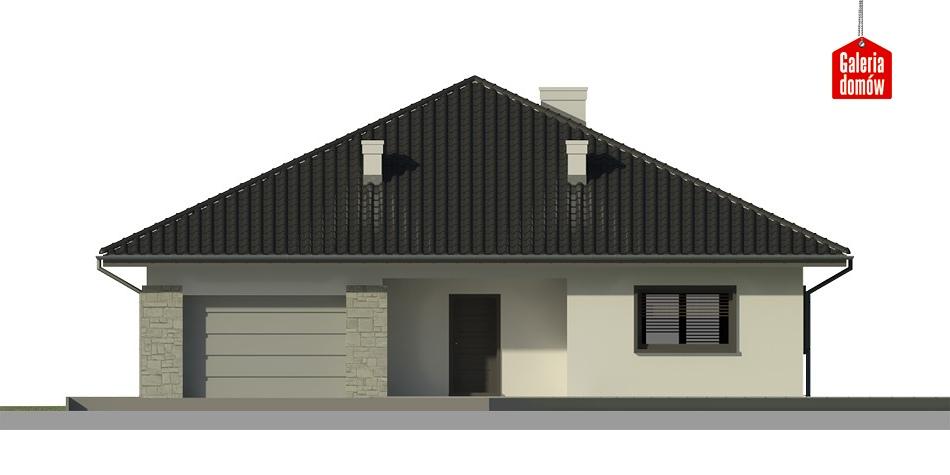 Dom przy Rubinowej 3 - elewacja frontowa