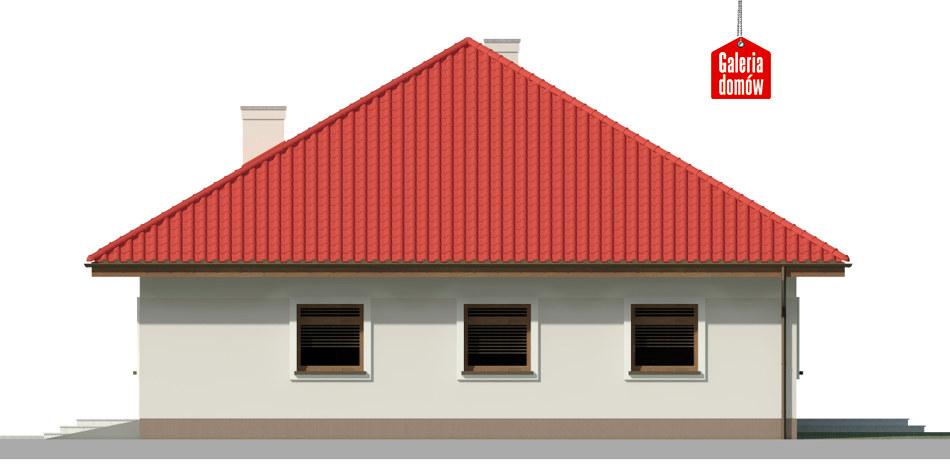 Dom przy Rubinowej 4 - elewacja prawa