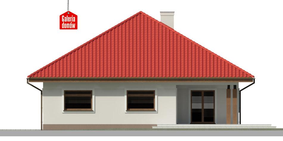 Dom przy Rubinowej 4 - elewacja tylna