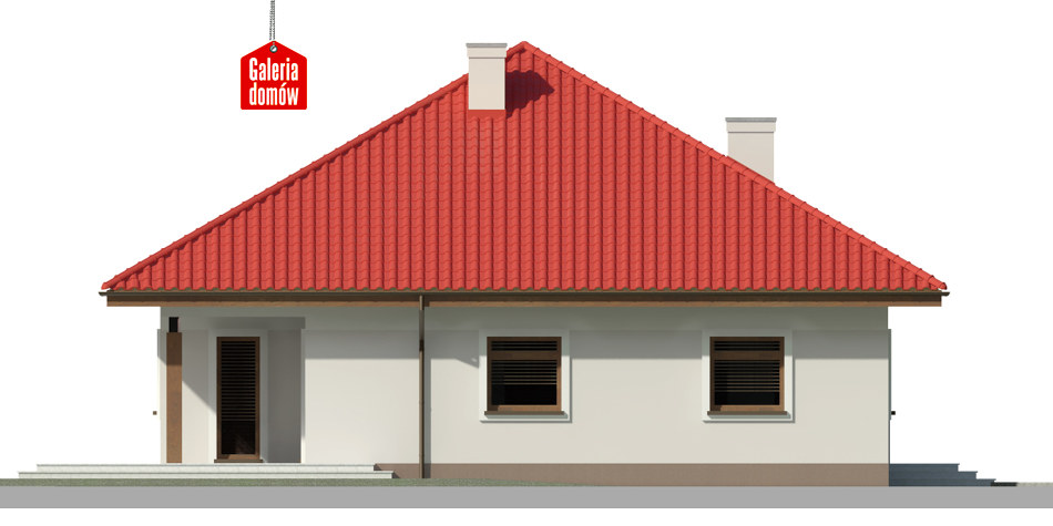 Dom przy Rubinowej 4 - elewacja lewa