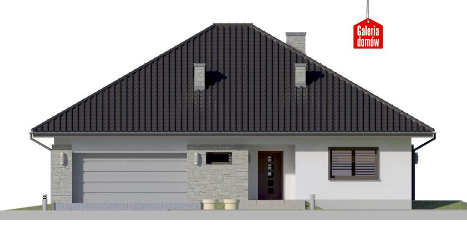 Dom przy Rubinowej 5 bis - elewacja frontowa