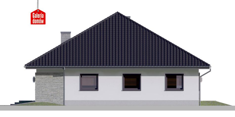 Dom przy Rubinowej 5 bis - elewacja prawa