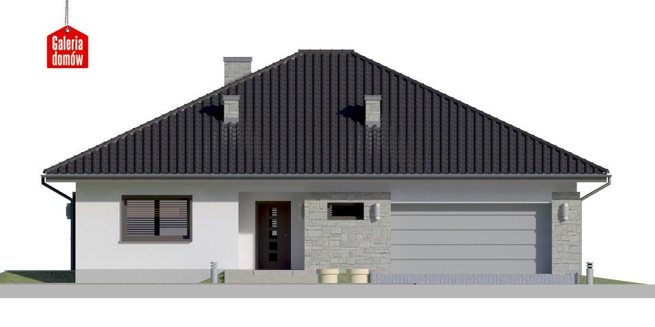 Dom przy Rubinowej 5 - elewacja frontowa