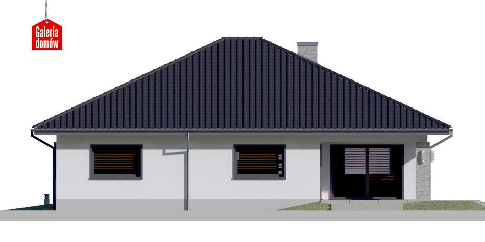 Dom przy Rubinowej 5 - elewacja tylna