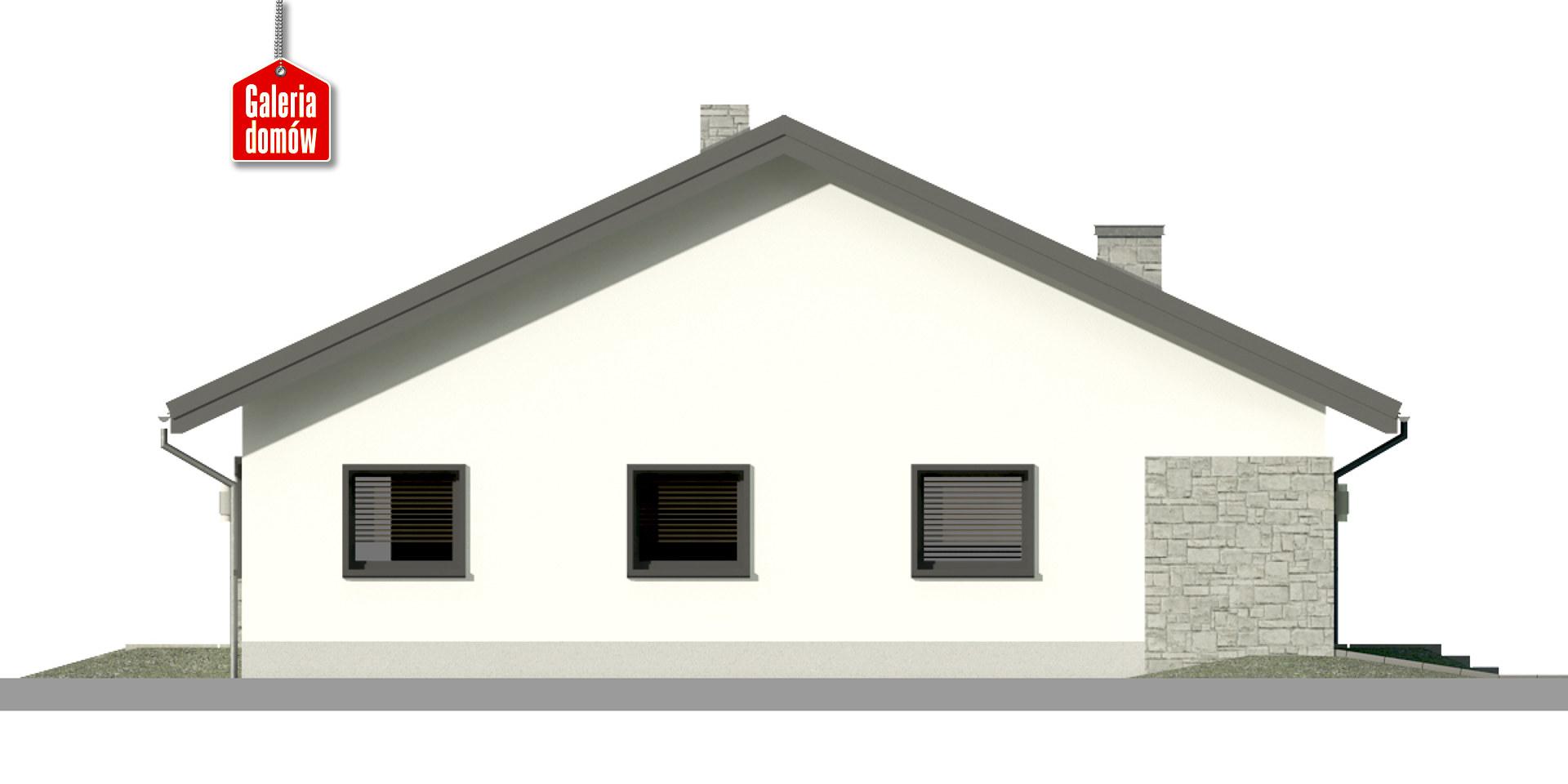 Dom przy Rubinowej 6 - elewacja prawa