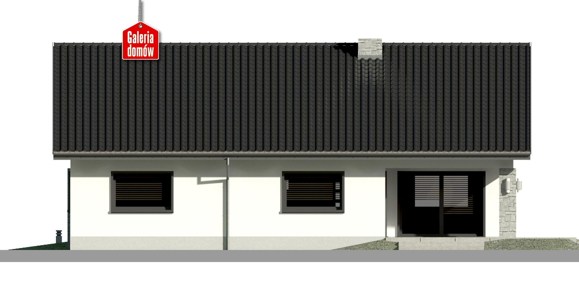 Dom przy Rubinowej 6 - elewacja tylna