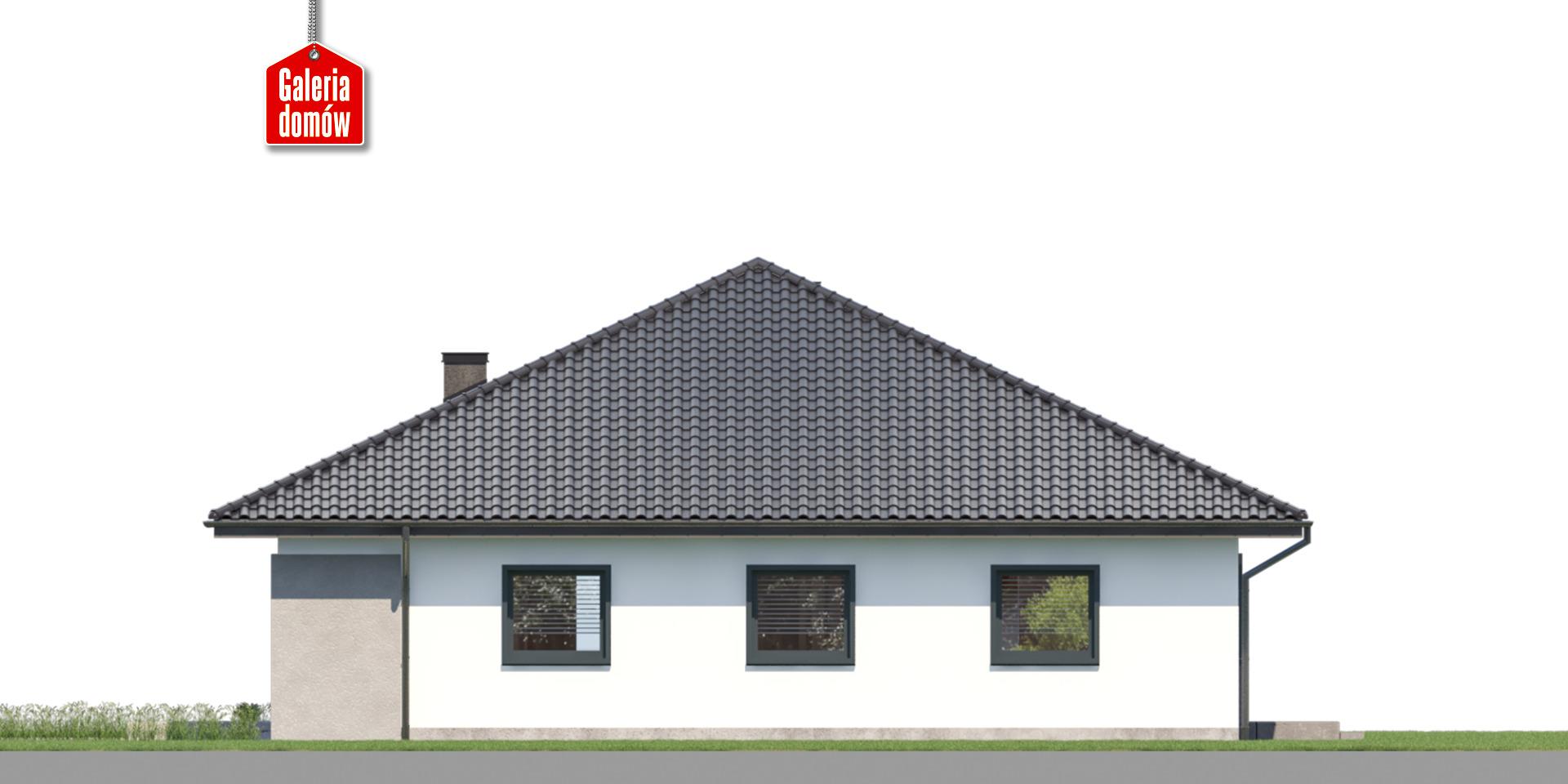 Dom przy Rubinowej 7 - elewacja prawa