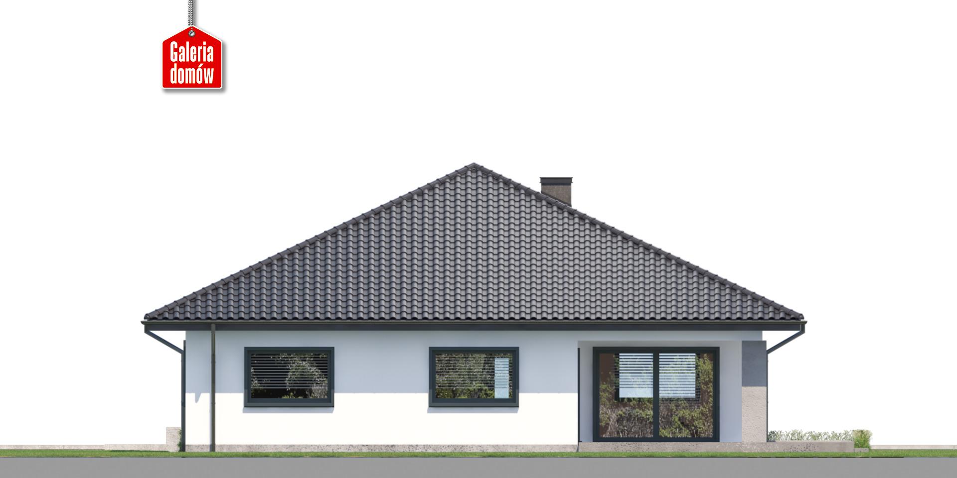 Dom przy Rubinowej 7 - elewacja tylna