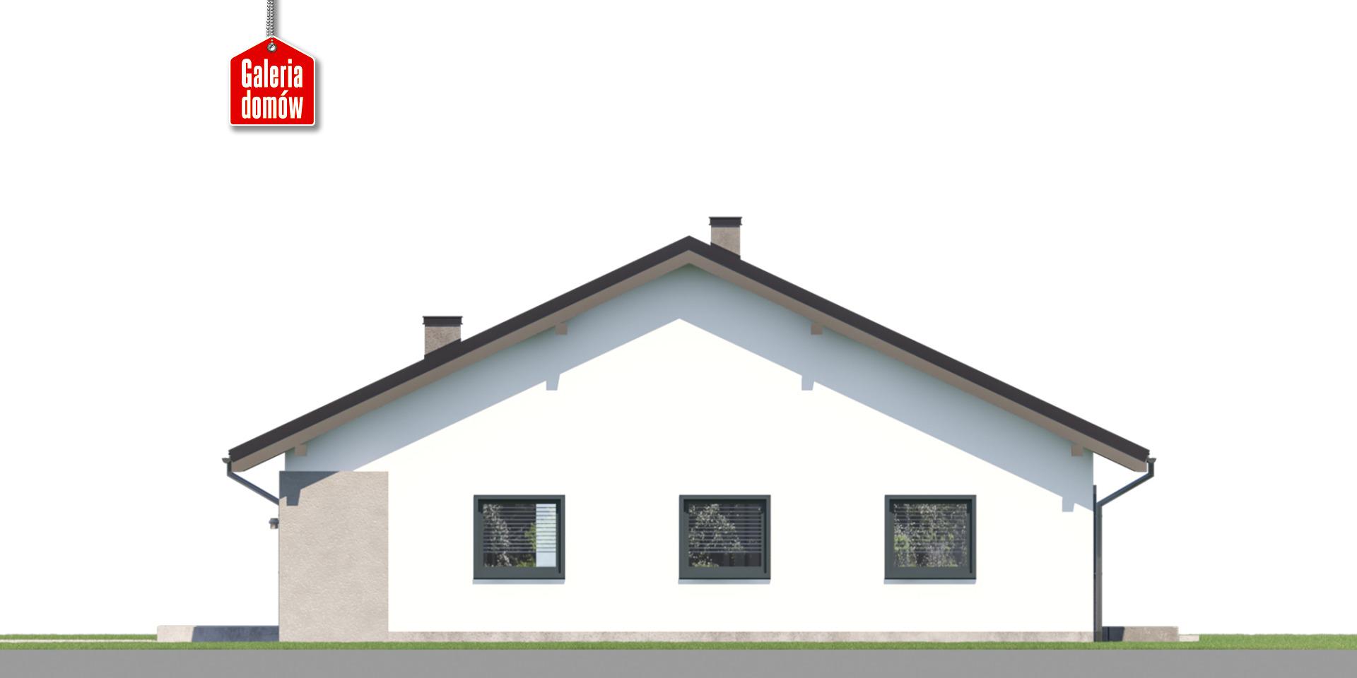 Dom przy Rubinowej 8 - elewacja prawa