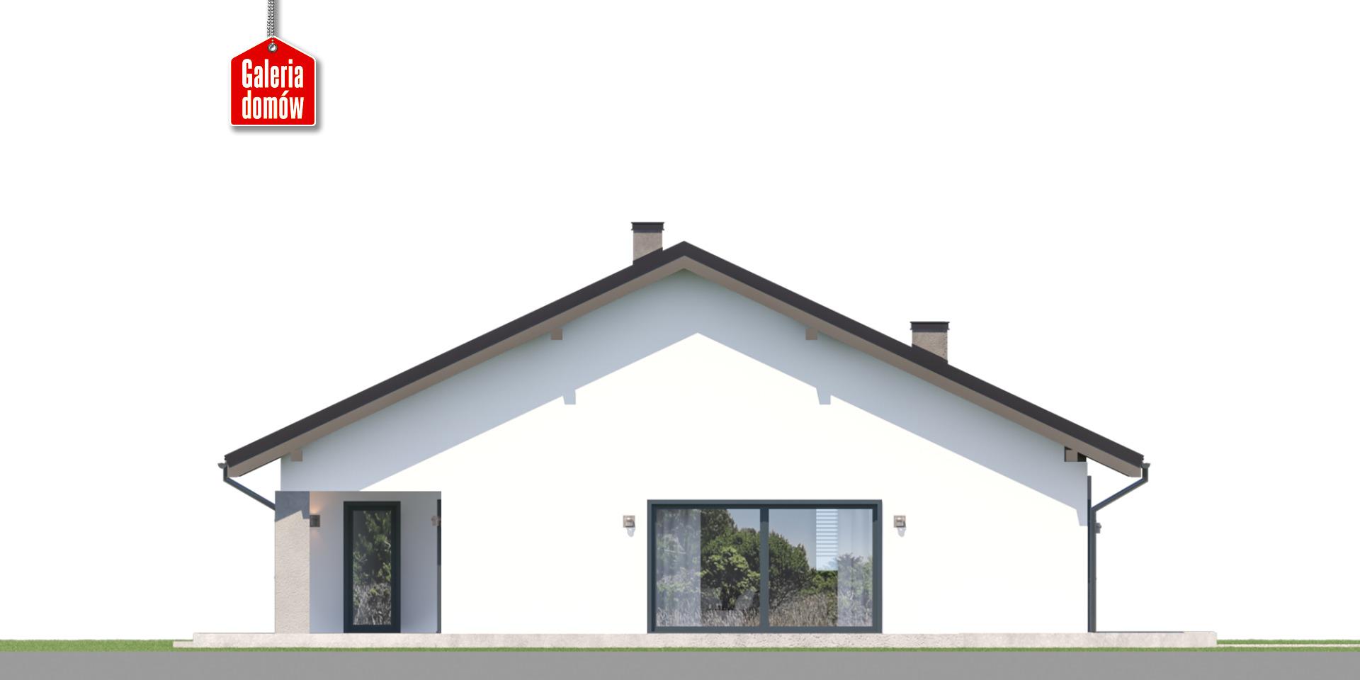 Dom przy Rubinowej 8 - elewacja lewa