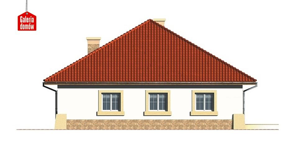 Dom przy Rubinowej - elewacja prawa