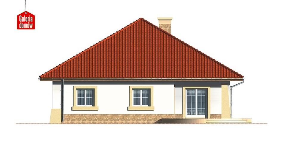Dom przy Rubinowej - elewacja tylna