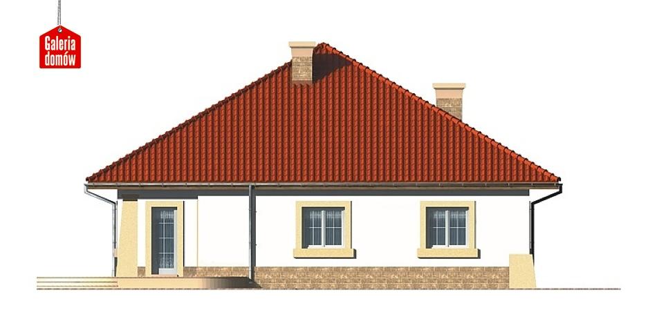 Dom przy Rubinowej - elewacja lewa
