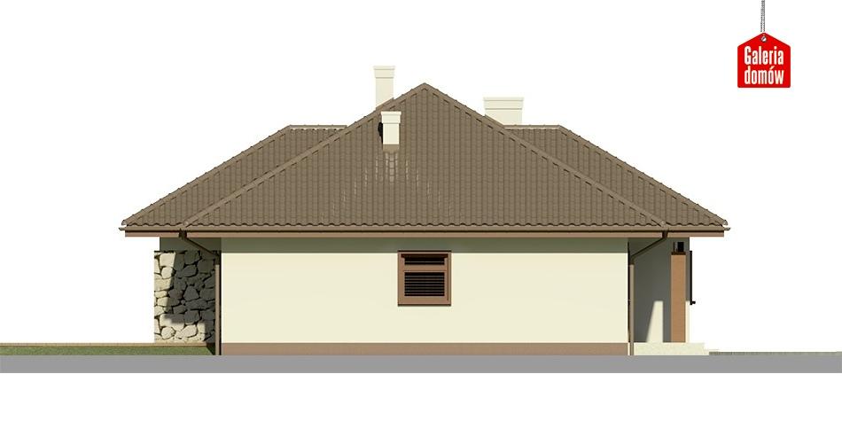 Dom przy Sadowej 2 - elewacja prawa