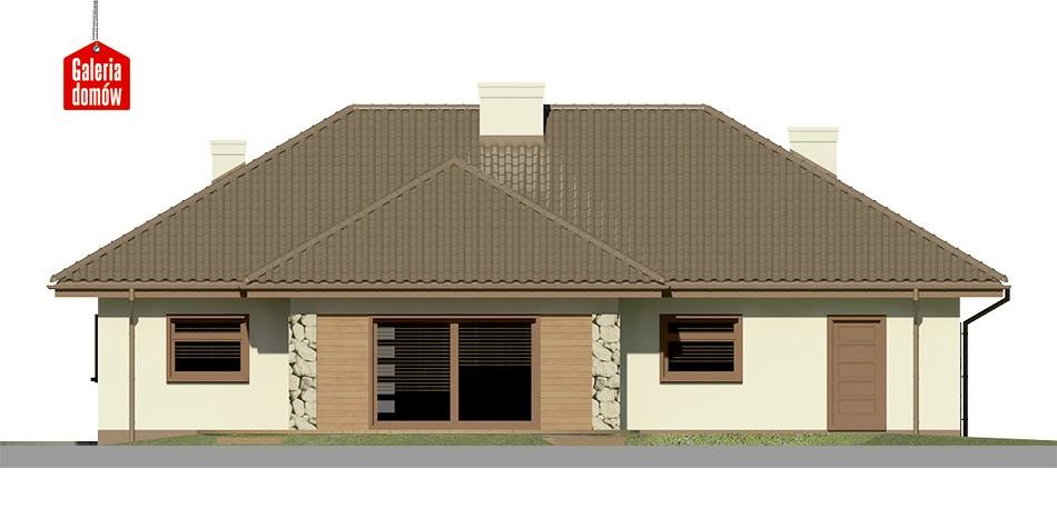 Dom przy Sadowej 2 - elewacja tylna