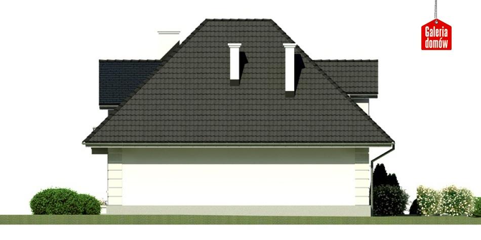 Dom przy Sielskiej 4 - elewacja lewa