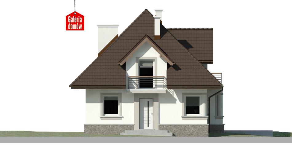 Dom przy Sielskiej 5 - elewacja frontowa