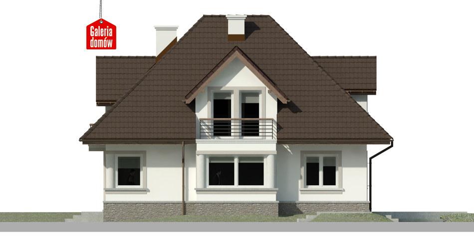 Dom przy Sielskiej 5 - elewacja prawa