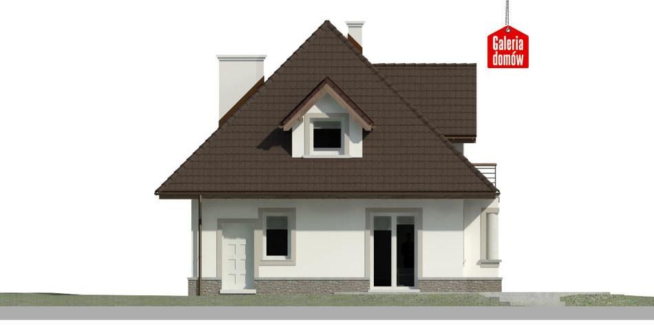Dom przy Sielskiej 5 - elewacja tylna