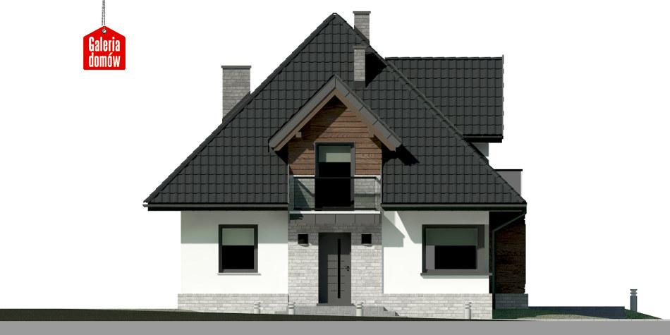 Dom przy Sielskiej 6 N - elewacja frontowa