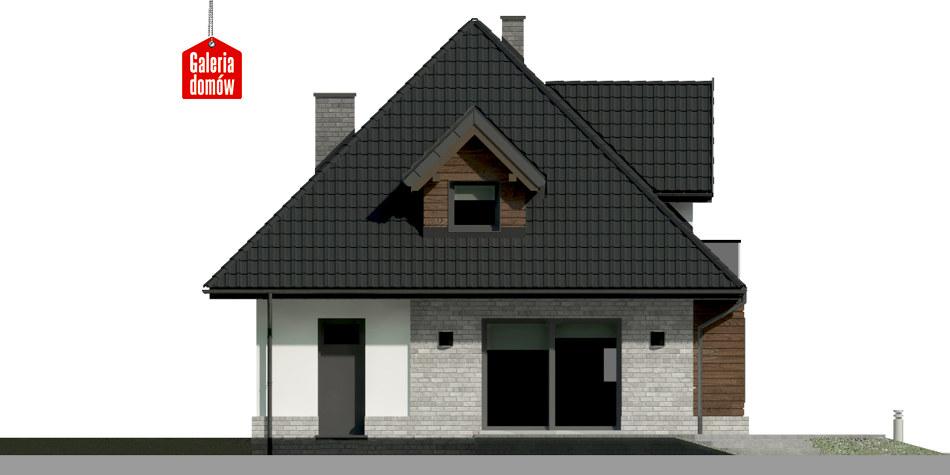 Dom przy Sielskiej 6 N - elewacja tylna