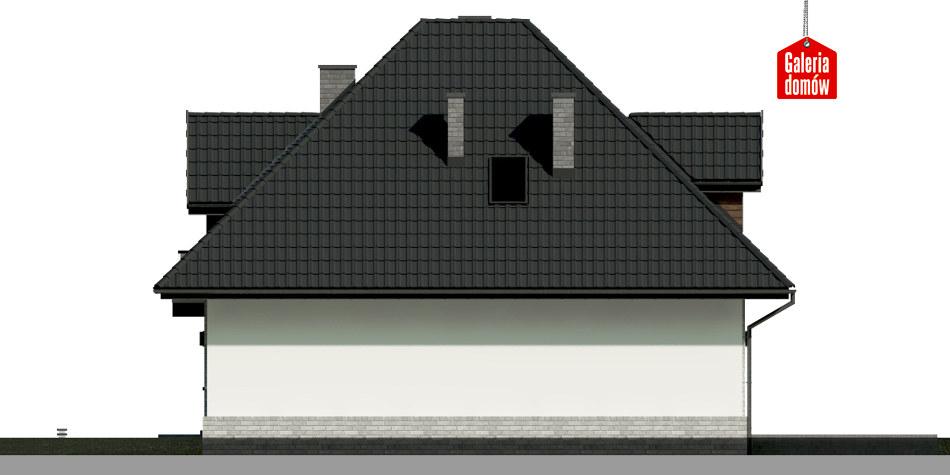 Dom przy Sielskiej 6 N - elewacja lewa