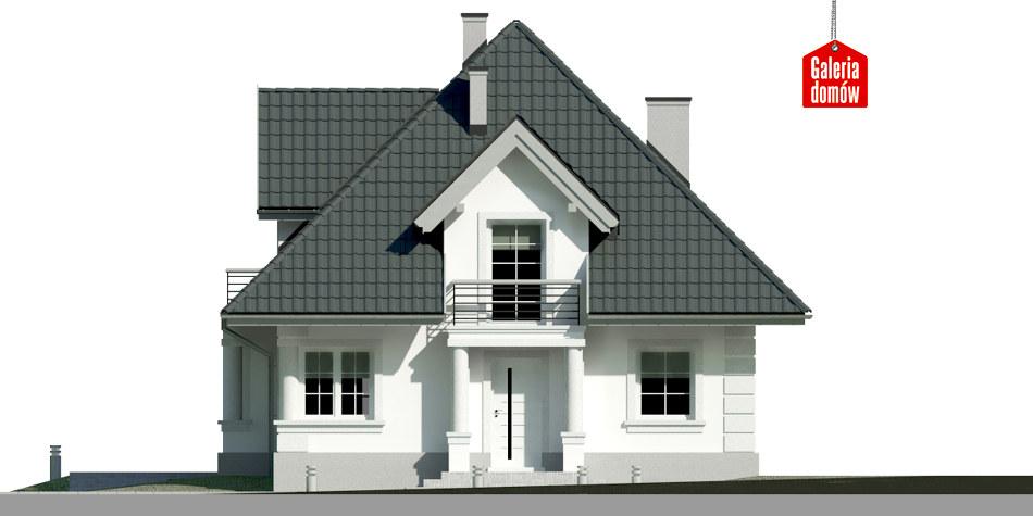 Dom przy Sielskiej 6 - elewacja frontowa