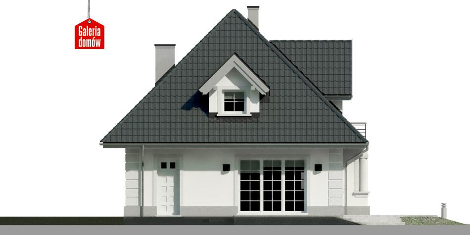 Dom przy Sielskiej 6 - elewacja tylna