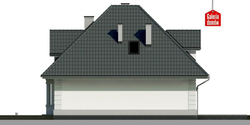Dom przy Sielskiej 6 - elewacja lewa