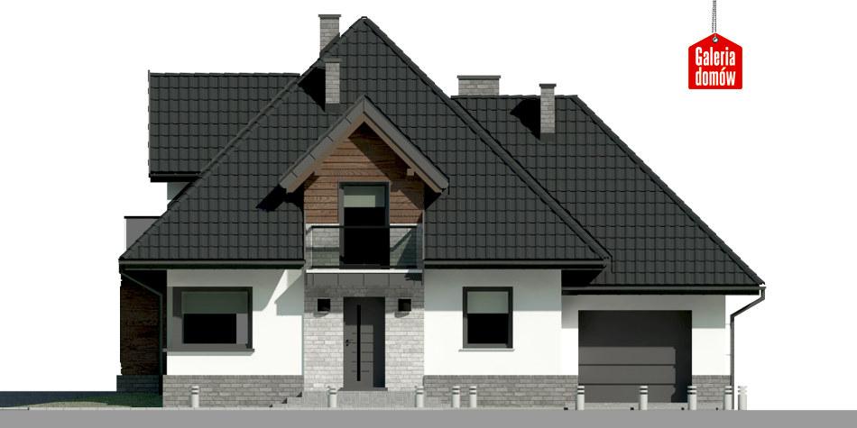 Dom przy Sielskiej 7 N - elewacja frontowa