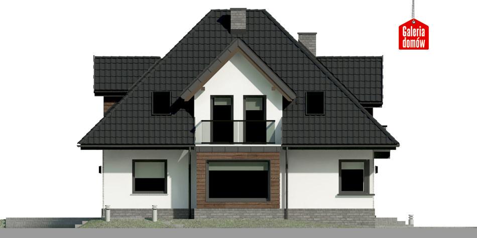 Dom przy Sielskiej 7 N - elewacja prawa
