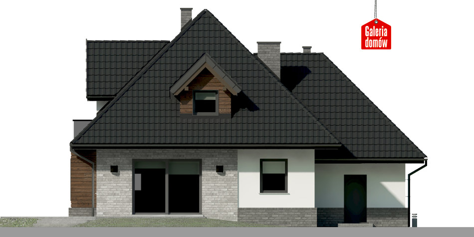 Dom przy Sielskiej 7 N - elewacja tylna