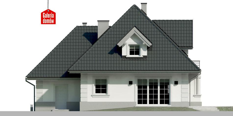 Dom przy Sielskiej 7 - elewacja tylna