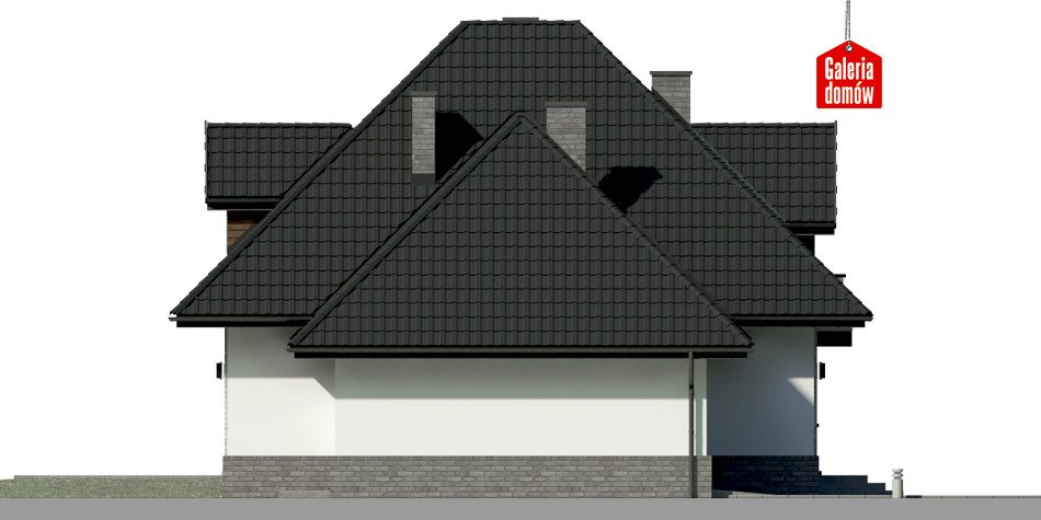 Dom przy Sielskiej 8 N - elewacja lewa