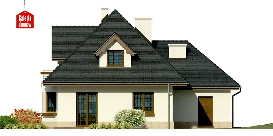Dom przy Sielskiej - elewacja tylna