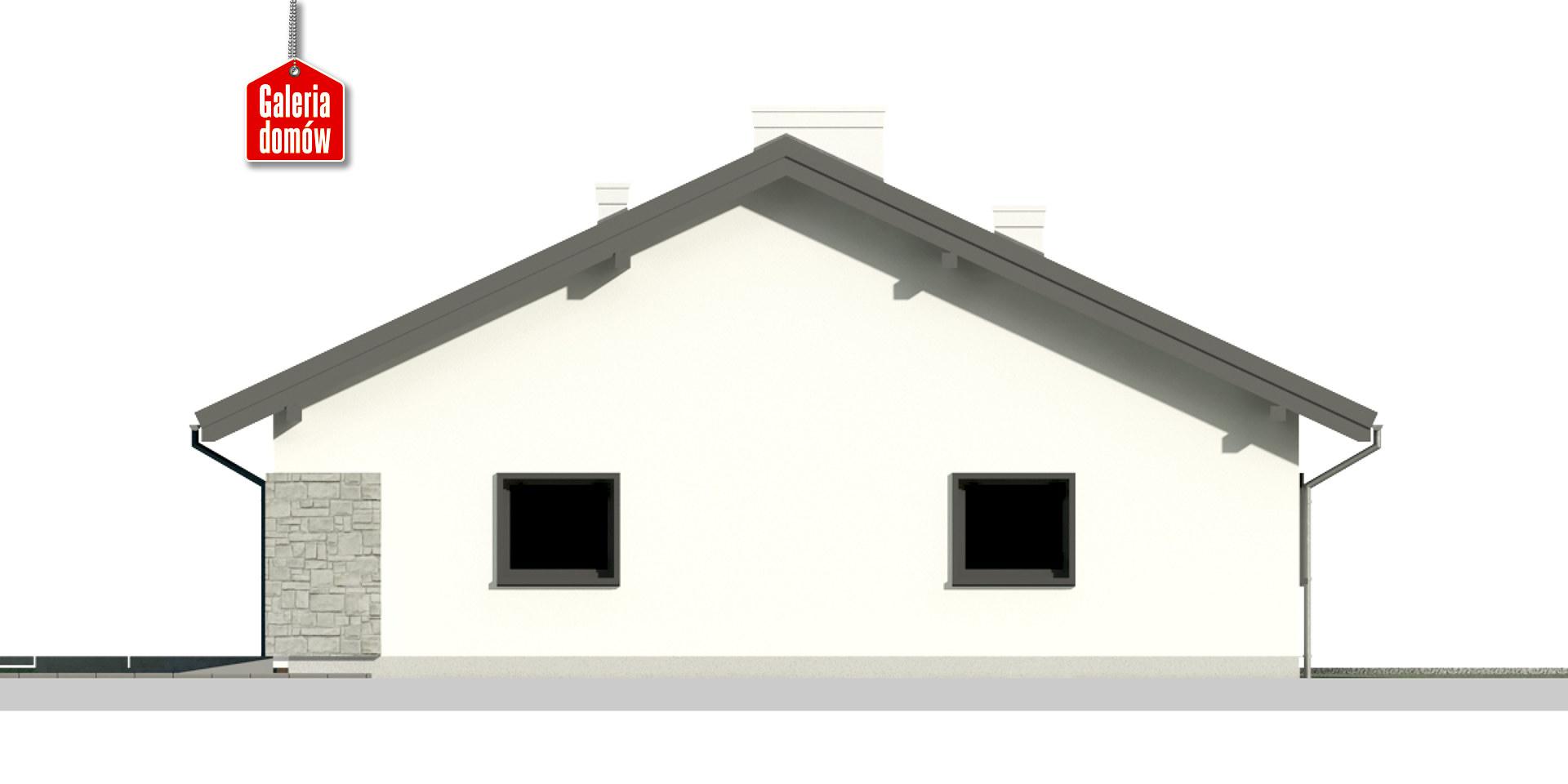 Dom przy Słonecznej 10 - elewacja prawa