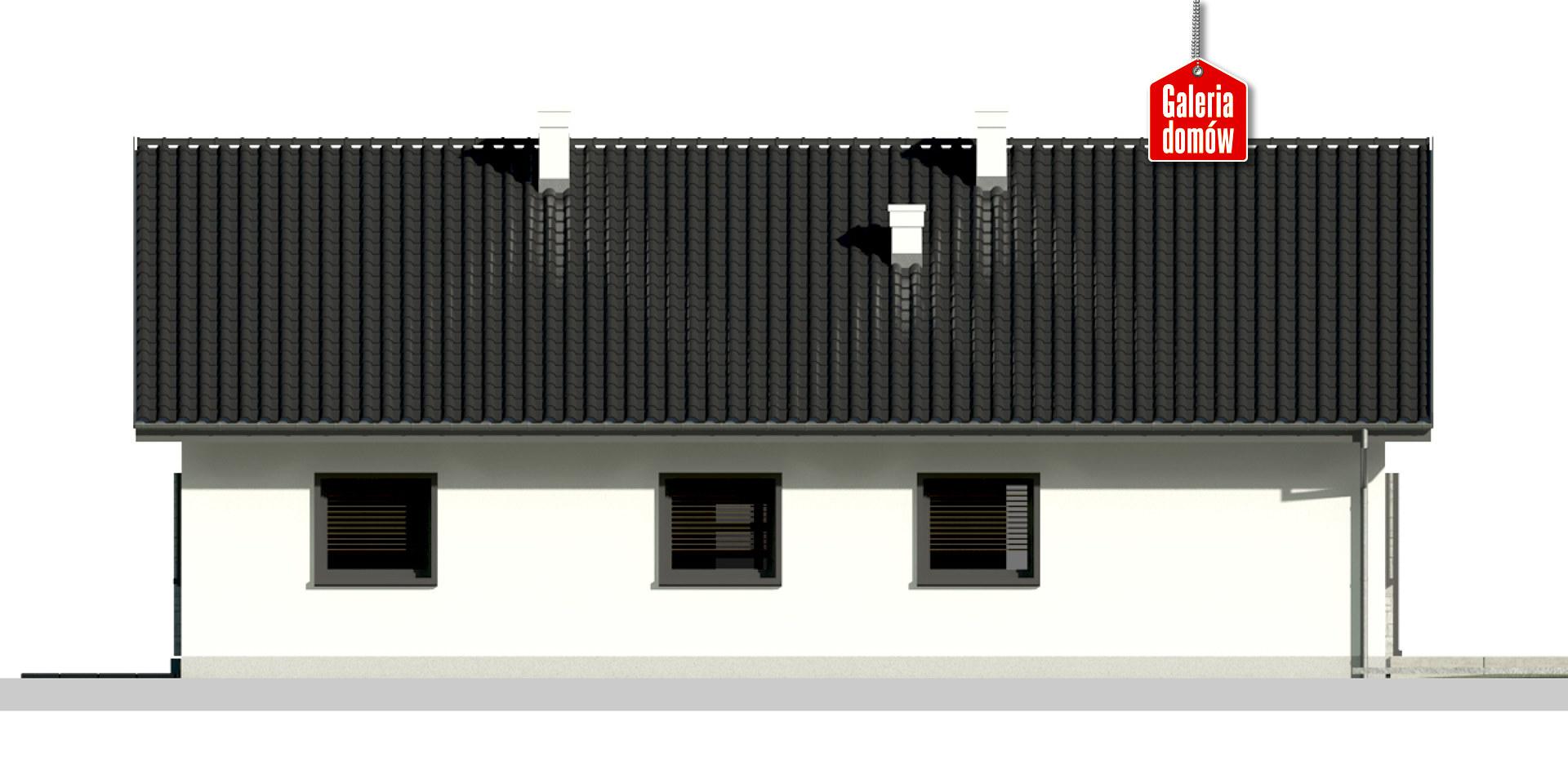 Dom przy Słonecznej 10 - elewacja tylna