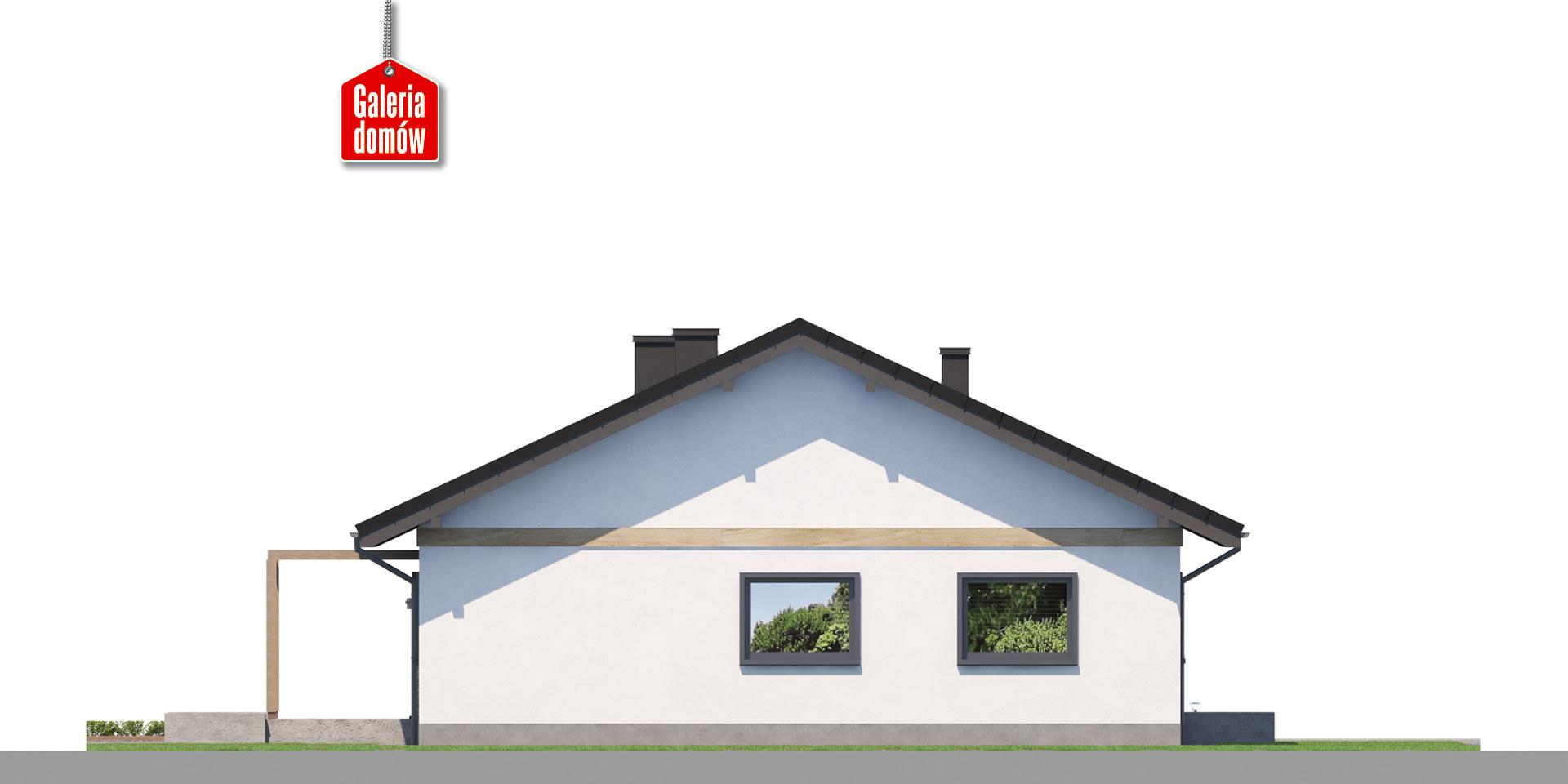 Dom przy Słonecznej 12 - elewacja tylna