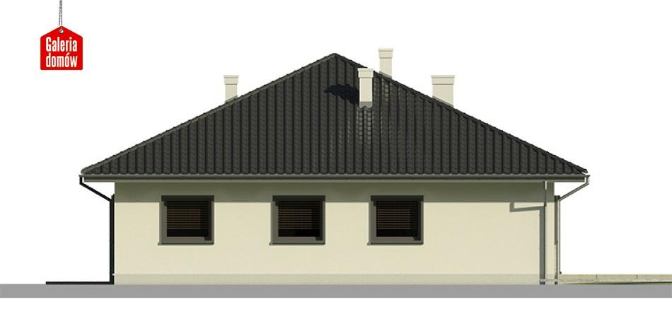 Dom przy Słonecznej 2 bis - elewacja tylna