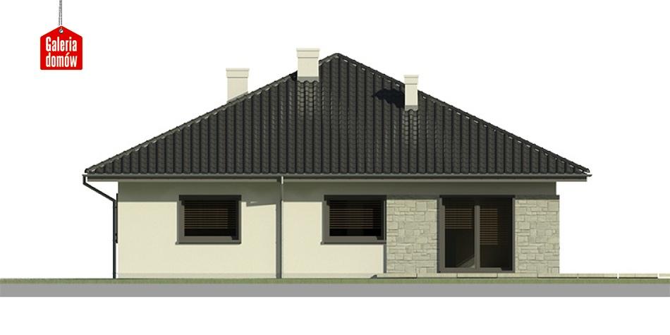 Dom przy Słonecznej 2 bis - elewacja lewa