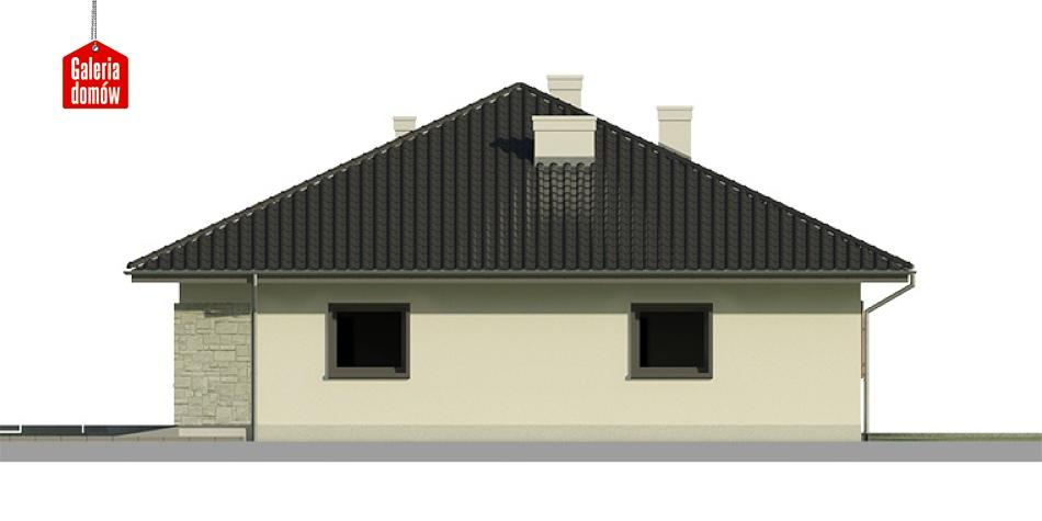 Dom przy Słonecznej 2 - elewacja prawa