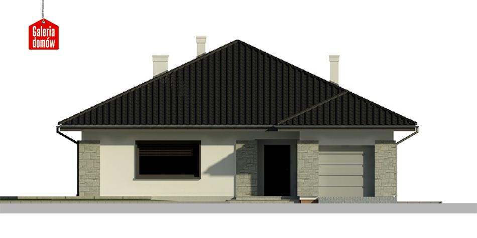 Dom przy Słonecznej 3 bis - elewacja frontowa