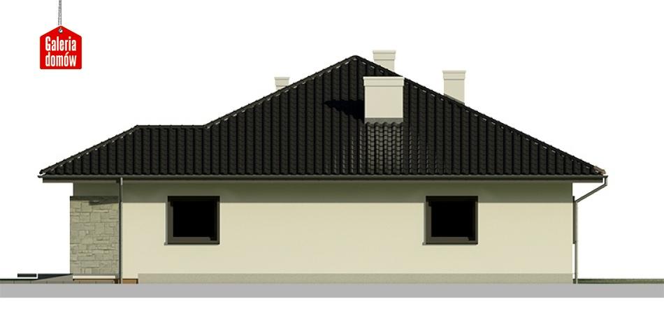 Dom przy Słonecznej 3 bis - elewacja prawa