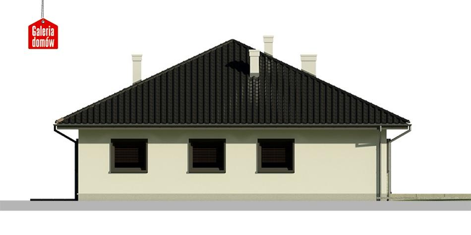 Dom przy Słonecznej 3 bis - elewacja tylna