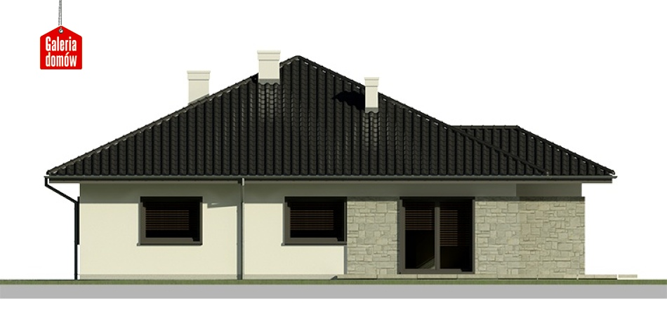 Dom przy Słonecznej 3 bis - elewacja lewa