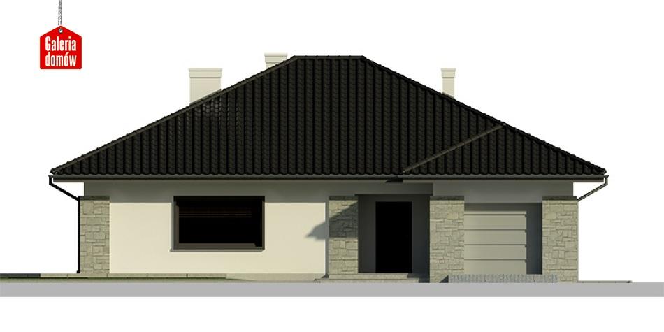 Dom przy Słonecznej 4 bis - elewacja frontowa