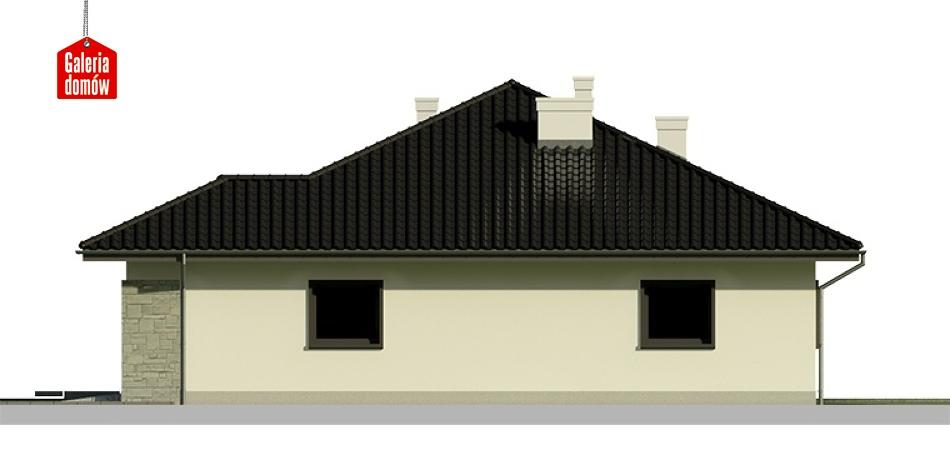 Dom przy Słonecznej 4 - elewacja prawa